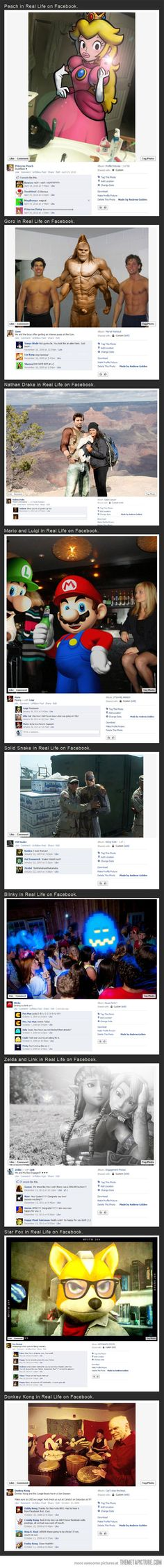 Video game characters in real life on Facebook  I like the Zelda and Link one the best