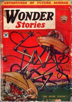 Wonder Stories February 1934 / Frank R. Paul artwork