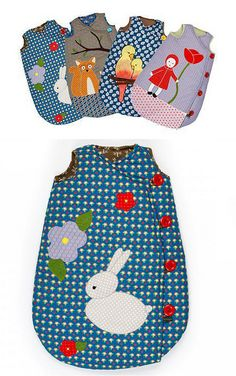 Georges et Rosalie sleeping bags by Ninainvorm, via Flickr kids clothes