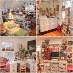 {Mary Engelbreit's home studio...}