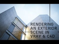 Rendering an Exterior Scene - vray for c4D (Part01) - YouTube