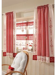 Gardinen-Serie, Wohntraum Collection Country Decor, Country Style, Gingham Curtains, Window Curtains, Linen Curtains, Country Curtains, Drapery, Curtain Panels, Cottage Curtains