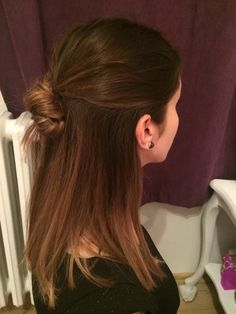#lob #brown #ombre #updo