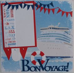 Cruise...BonVoyage....vacation...travel...THREE by thebigbluebarn, $23.00