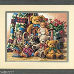 I checked out 	 Kit Point de Croix Compté Dimensions Oursons Bear Teddy Bear Gathering on Lish, € 60,69