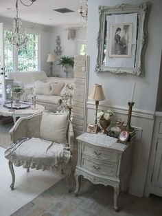 Shabby Chic Home......IF i LIVED BY MYSELF MY HOUSE WOULD LOOK LIKE THIS..