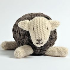 Herdy Sheep Toy Free Knitting Pattern and more sheep and lamb knitting patterns