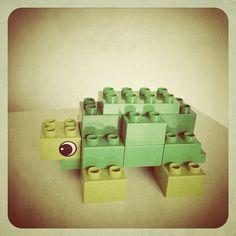Finn's Tortoise. DIY toy for my baby in #Lego #Duplo