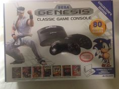 Sega Genesis Classic Game Console System 80 Built-In Games New #AtGames