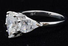Ring Solitaire Pear Shape Diamond 1.71ct Clarity SI-2 Color E (EGL Diamond…