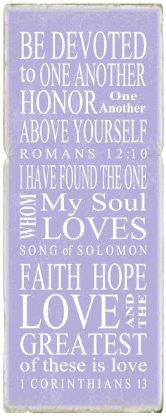 Bible verses on love.