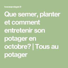 Permaculture jardinage and fruit on pinterest - Que planter en mai au potager ...
