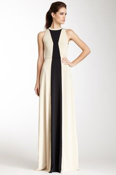 Jersey High Neck Gown