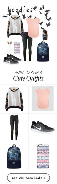 """""""""""Athletic """" Outfit"""" by dawndreader on Polyvore featuring Jayson Home, Hudson, LOFT, NIKE, Casetify, adidas Originals and The House of Marley"""