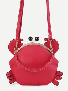 Shop Cute Red PU Crab Bag With Convertible Strap online. SHEIN offers Cute  Red PU Crab Bag With Convertible Strap   more to fit your fashionable needs. 70bc70fd8eb1a