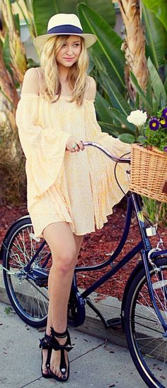 Yellow Prints Boho Off Shoulder Dress by Late Afternoon