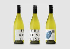 Branding and wine labels for The Bone Line designed by Inhouse