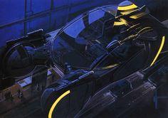 Сoncept art for Blade Runner by Syd Mead - Police spinner - Знаменитый полицейский спиннер из «Бегущего по лезвию бритвы»