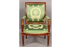 FRENCH EMPIRE ARM OPEN ARM CHAIR CARVED GILT CIRCA 1840 For Sale ...