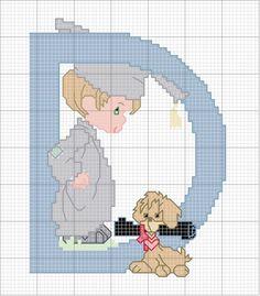 Schema punto croce D-cane