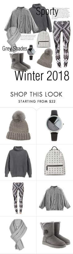 """Winter 2018"" by glambythemoon ❤ liked on Polyvore featuring Eugenia Kim, BKE, MCM, White + Warren and UGG"