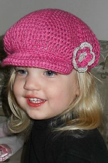 cute crocheted newsboy cap. free pattern