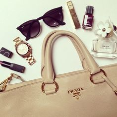 What's in your bag? #Prada
