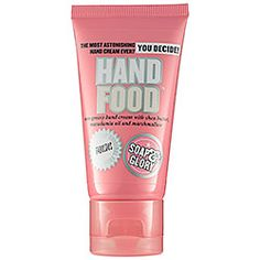 Soap & Glory Hand Food Hand Cream - A great hand moisturizer. Non-greasy and smells awesome. Have one in my desk at work and one at home.