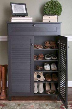 ideas for shoe storage closet ikea entryway - IKEA Shoe Rack Room, Closet Shoe Storage, Diy Shoe Rack, Shoe Storage Cabinet, Storage Cabinets, Shoe Rack Ikea, Shoe Racks, Shoe Cabinets, Shoe Cupboard