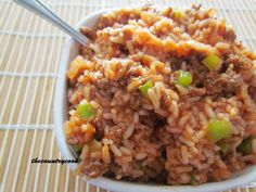 The Country Cook: Spanish-Style Rice- I could eat the whole pot