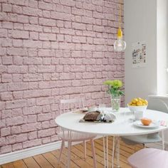 Soft Pink Bricks Mural Wallpaper (SqM) – Jass London LTD Registered in England and Wales. Registered Number 07896273