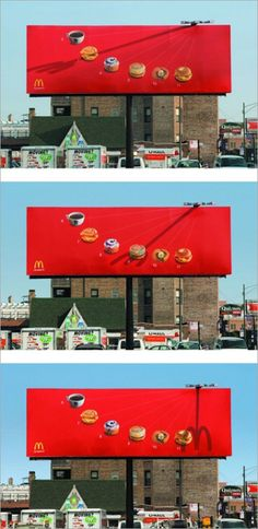 McDonald's sundial billboard tells you what to eat depending on the time of day