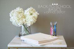 Back-To-School Basics x Office Depot » Hustle + Halcyon @officedepot  #GearUpForCollege