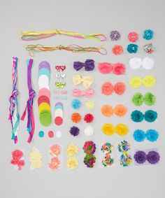 This Pink Hair Accessory Kit by My Sunshine Shoppe is perfect! #zulilyfinds