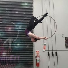 """450 Likes, 12 Comments - Miranda Aerial-Hoop Artist (@that_circus_freak) on Instagram: """"The only way to escape fear is to trample it beneath your feet Couple of poses with a drop on the…"""""""
