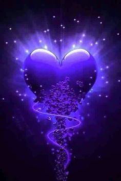 By Artist Unknown. Purple Love, All Things Purple, Purple Rain, Purple Flowers, Purple Hearts, Love Heart Images, Heart Pictures, Heart Pics, Heart Wallpaper