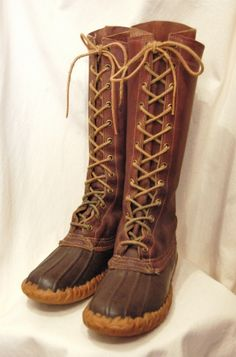 70'S~ L.L.BEAN 14 INCH MAINE HUNTING BOOTS(D.BRN) - PATINAS VINTAGE CLOSET
