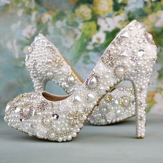 47.58$  Watch here - http://ali9vr.worldwells.pw/go.php?t=32659131844 - Handmade white wedding shoes bridesmaid/bridal shoes women's rhinestone shoes high heels pumps size 40-41 47.58$