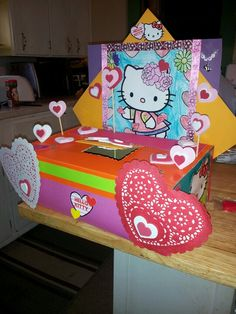 Valetines Day Box Project-Hello Kitty