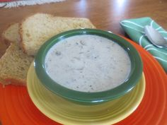Cream of mushroom soup is easy to make at home. This makes a nice lunch, or a wonderful starter for a dinner. Low-fat, low-sodium, and gluten-free, it is delicious fresh or from the freezer.