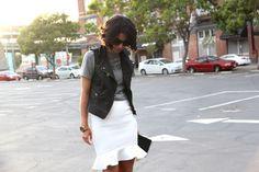 Black,  gray & white