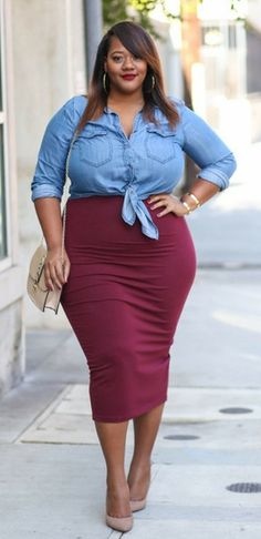 2b61b3d39b4 16 Awesome Plus size pencil skirt images