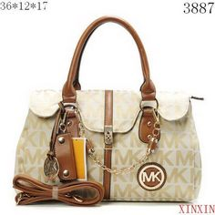 MICHAEL Michael Kors Small Flap Chain Tote Apricot