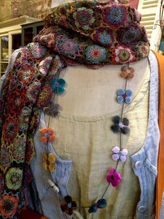 Sophie Digard Scarf and necklace