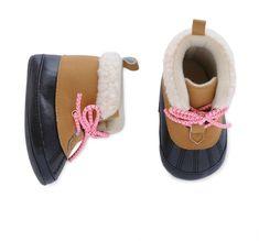 Carter's Baby Girl Carter's Duck Boot Crib Shoes. So adorable!! Afflink.