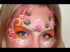 Rose Mask Face Painting Tutorial