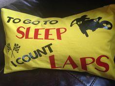 Boys motocross pillow gift.