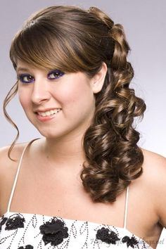half updo with headband and curls | half-up-half-down-wedding-hairstyles-2012-.jpg
