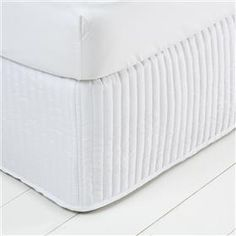 Quilted Fitted Valance - Queen, White or Black