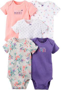 c96fdb00b05e Amazon.com  Carter s Baby Girls  Multi-Pk Bodysuits 126g331  Clothing